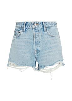 GRLFRND Helena Cut-Off Denim Shorts