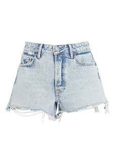 GRLFRND Helena Cut-Off Denim Shorts