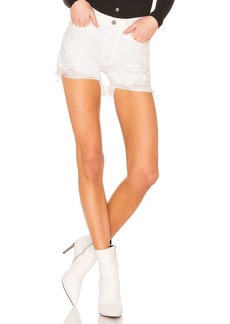GRLFRND Helena Cut Off Straight Leg Shorts