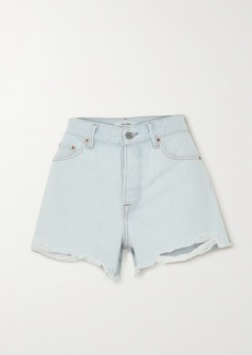 GRLFRND Helena Distressed Denim Shorts