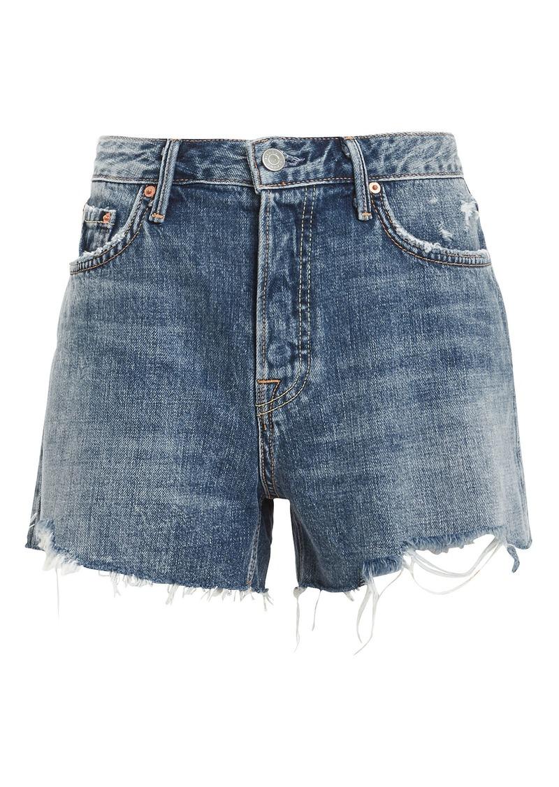 GRLFRND Helena Distressed Shorts