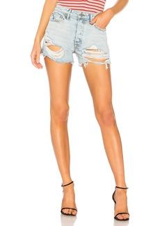 GRLFRND Helena High-Rise Straight Leg Cut Off Short
