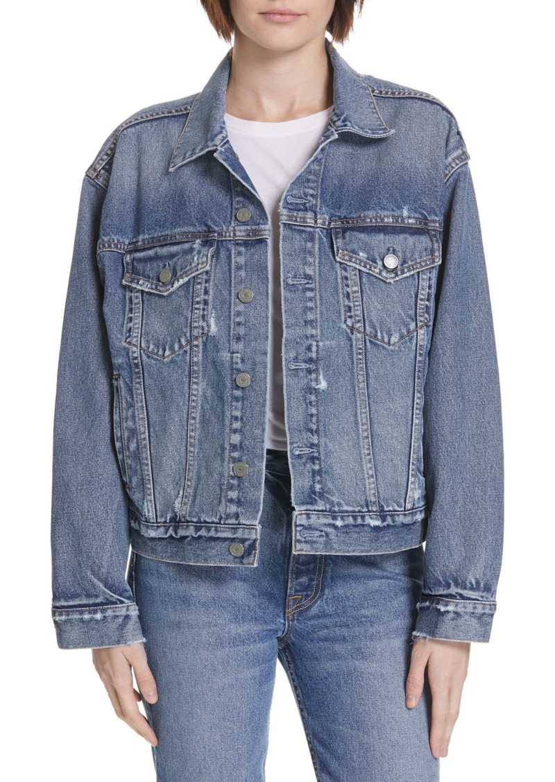 GRLFRND Kim Boyfriend Denim Trucker Jacket