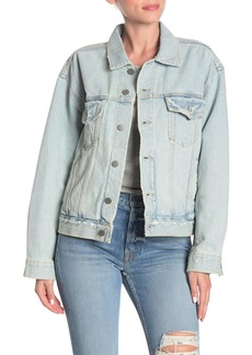 GRLFRND Kim Distressed Denim Jacket