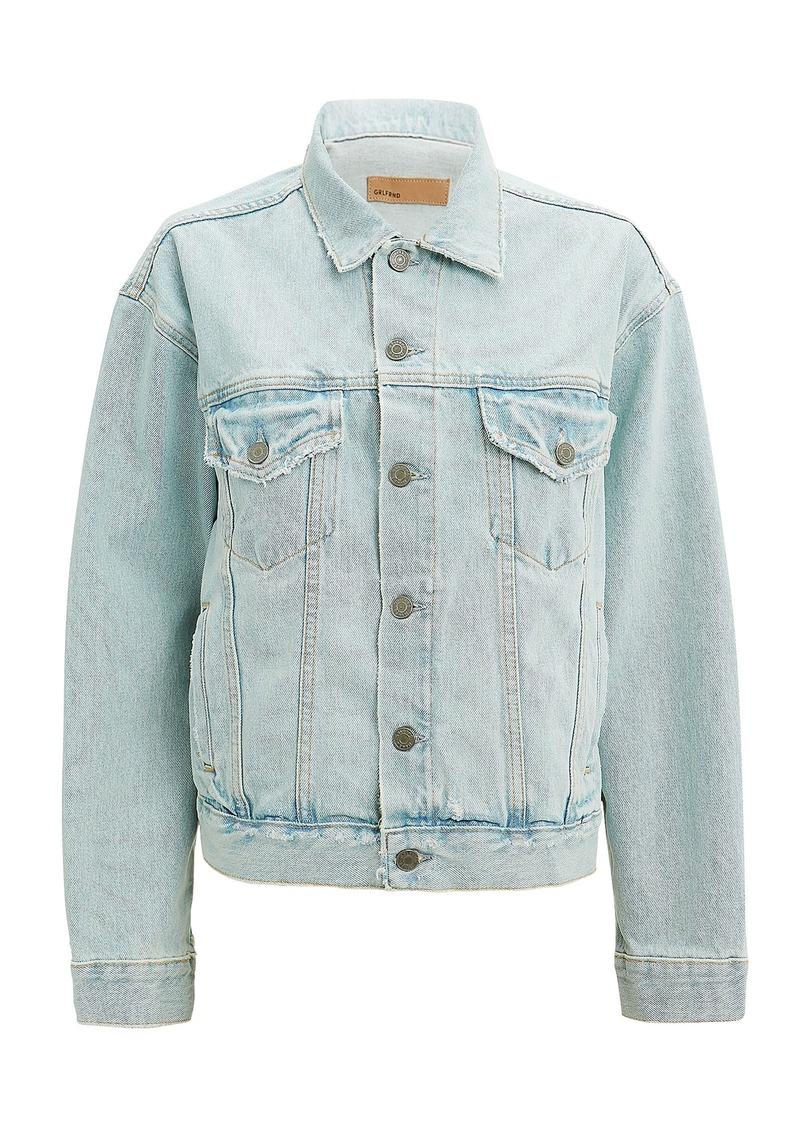 GRLFRND Kim Distressed Denim Jacket