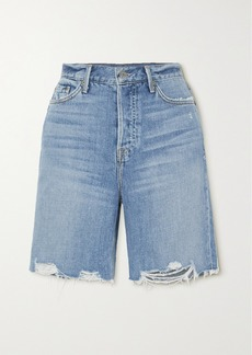 GRLFRND Marjan Distressed Denim Shorts