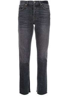 GRLFRND mid rise flared jeans