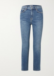 GRLFRND Reed Cropped High-rise Straight-leg Jeans