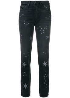 GRLFRND star-embellished fitted jeans