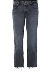 GRLFRND Tatum Cropped Frayed Mid-rise Straight-leg Jeans
