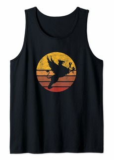 Gryphon Vintage Sunset Trendy Animal Silhouette Graphic Tank Top