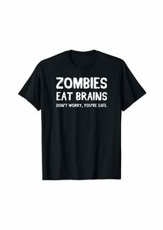 Gryphon Zombies Eat Brains Halloween Funny Dumb Zombie Outbreak T-Shirt