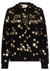 Gucci star and moon print button up hoodie