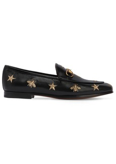 Gucci 10mm Jordaan Embroidered Leather Loafers