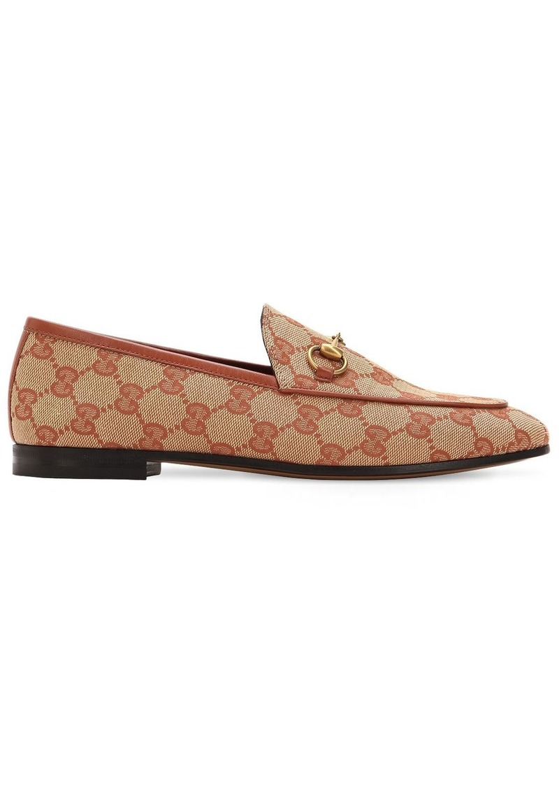 8fcf915a3a69 Gucci 10mm Jordaan Gg Supreme Canvas Loafers | Shoes