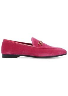 Gucci 10mm Jordan Velvet Loafers