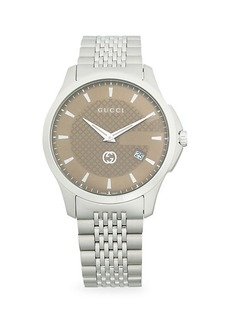 Gucci 126 LG Stainless Steel Bracelet Watch