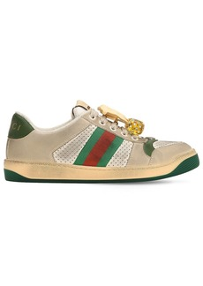Gucci 20mm Screener Leather Sneakers W/cherry