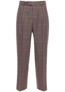 Gucci 23cm Vintage Check Wool Straight Pants