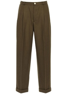 Gucci 26cm Wool Twill Pants W/ Gold Buttons