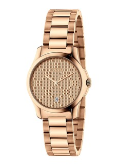 Gucci 27mm Unisex G-Timeless Bracelet Watch  Rose Golden