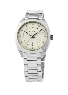 Gucci 37mm Stainless Steel Round Bracelet Watch