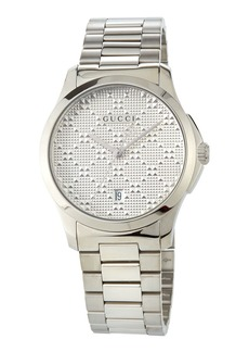 Gucci 38mm G-Timeless Textured Watch w/ Bracelet