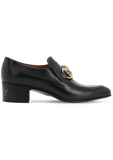 Gucci 45mm Leather Loafers W/chain Detail