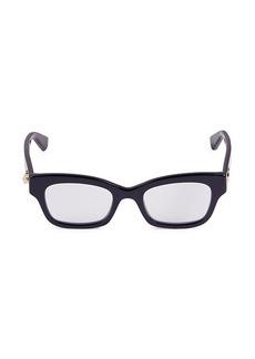 Gucci 48MM Rectangular Blue Light Blocking Reading Glasses