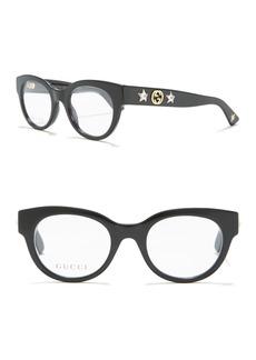 Gucci 48mm Round Optical Glasses