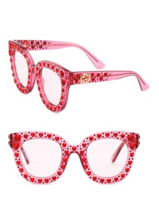 Gucci 49MM Cat Eye Sunglasses