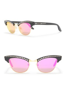 Gucci 49mm Crystal Accented Cat Eye Sunglasses