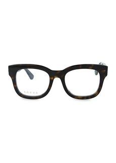 Gucci 50MM Square Blue Light Blocking Reading Glasses