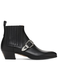 Gucci 50mm Zahara Leather Boots W/buckle