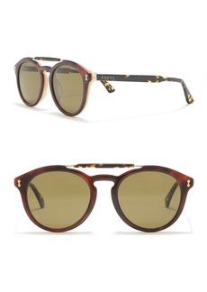 Gucci 52mm Round Sunglasses