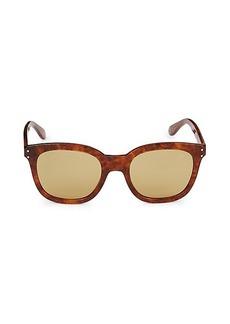 Gucci 52MM Square Marbled Sunglasses