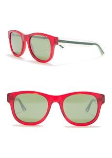 Gucci 52mm Square Transparent Sunglasses