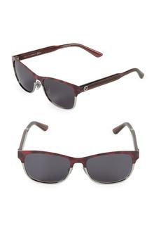 Gucci 53mm Two-Tone Rectangle Sunglasses
