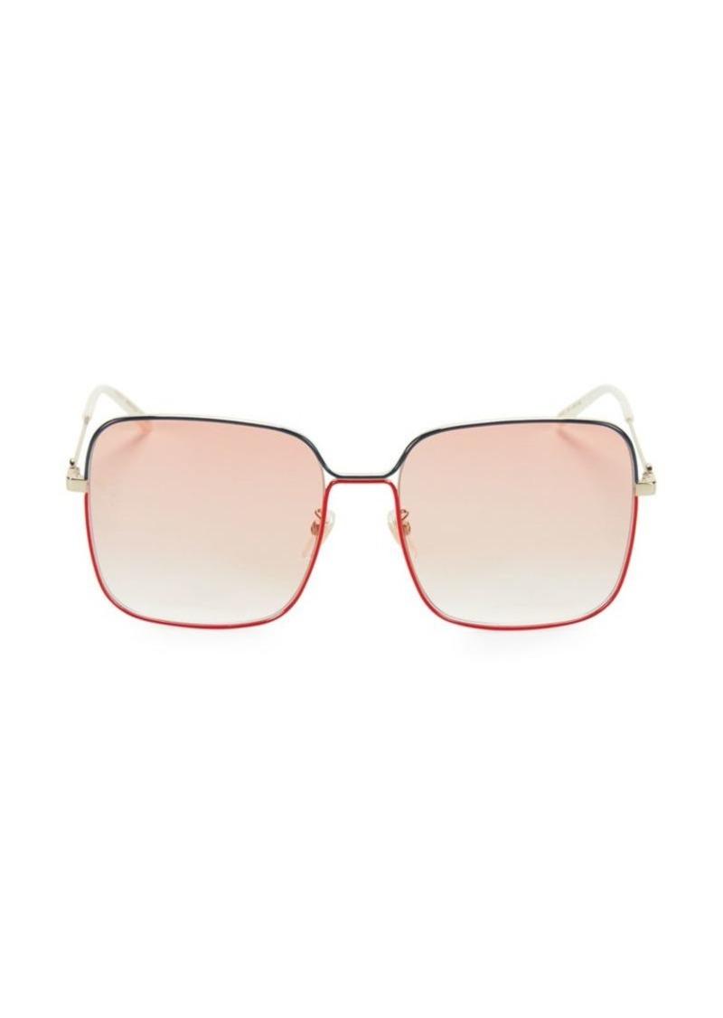 Gucci 53MM Wire Square Sunglasses
