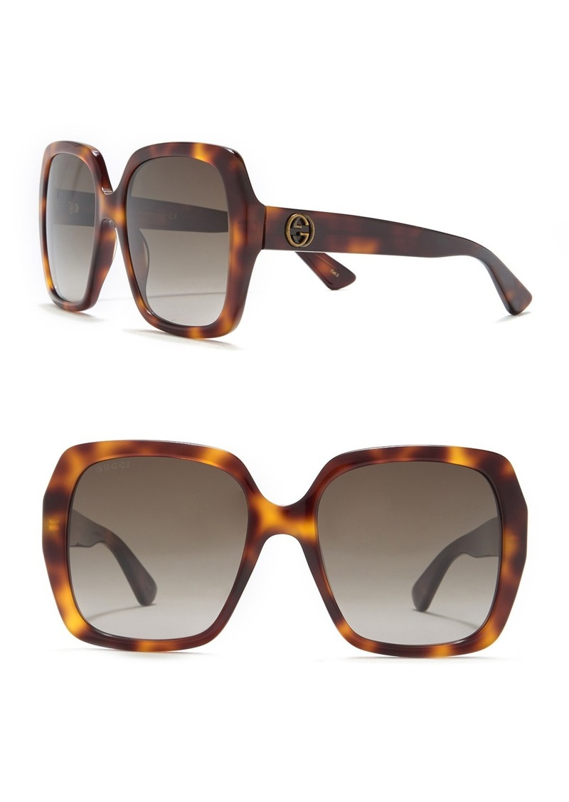 Gucci 54mm Oversize Square Sunglasses