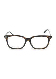Gucci 54MM Square Blue Light Blocking Reading Glasses