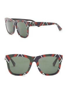 1fe6049df4 Gucci 54MM Glitter-Detail Square Sunglasses