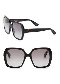 Gucci 54MM Square Two-Tone Sunglasses