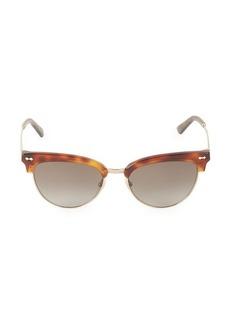 Gucci 55MM Havana Tortoise Sunglasses