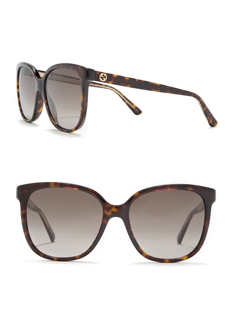 Gucci 55mm Oversize Square Sunglasses