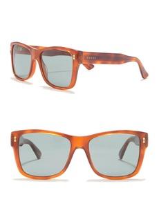 Gucci 55mm Rectangle Sunglasses