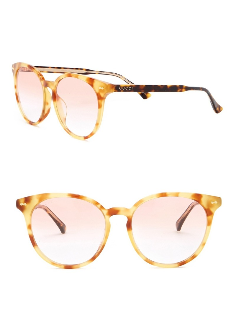 Gucci 55mm Round Sunglasses
