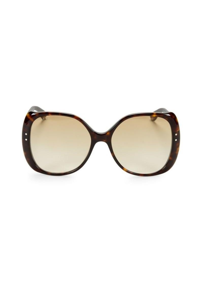 Gucci 56MM Havana Square Sunglasses