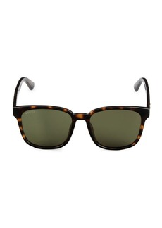 Gucci 56MM Injection Square Sunglasses