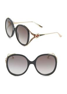 Gucci 56MM Oversized Oval Sunglasses